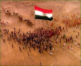 Croud with Flag (tiranga) , tiranga