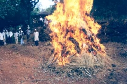 Holi Dahan In a Village , happy holi,colorful holi,holi festival,holi wishes,holi greetings