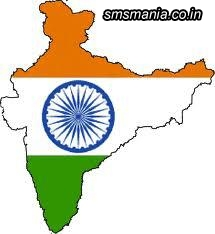 Indian Map In Flag ColorIndependence Day Images