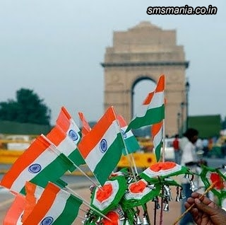 Indian Flags On India GateIndependence Day Images
