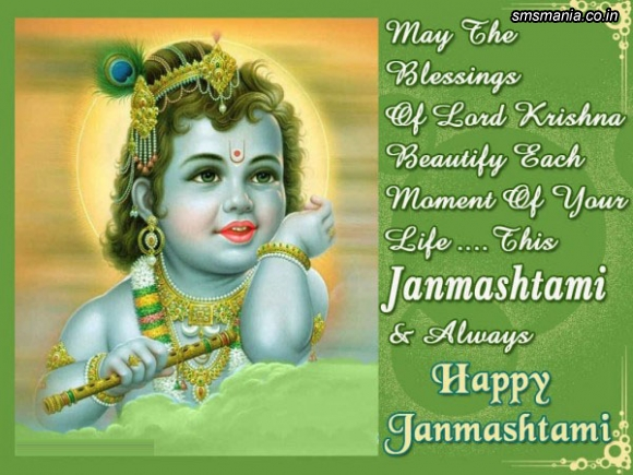 May The Blessing Of Lord Krishna Beautify Each Moment Of Your Life. This Janmashtami And Always Happy JanmashtamiKrishna Janmasthami