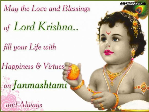 May The Love And Blessing Of Lord Krishna Fill Your Life With Happiness And Virtues. On Janmashtami And AlwaysKrishna Janmasthami