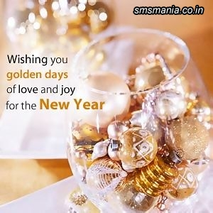 Wishing Golden Days Of Love And Joy For The New YearNew Year