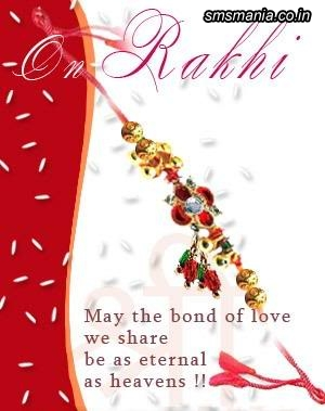 Rakhi May The Bond Of Love We Share Be As Eternal As HeavensRaksha Bandhan